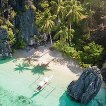 Beach in Palawan, the Philippines