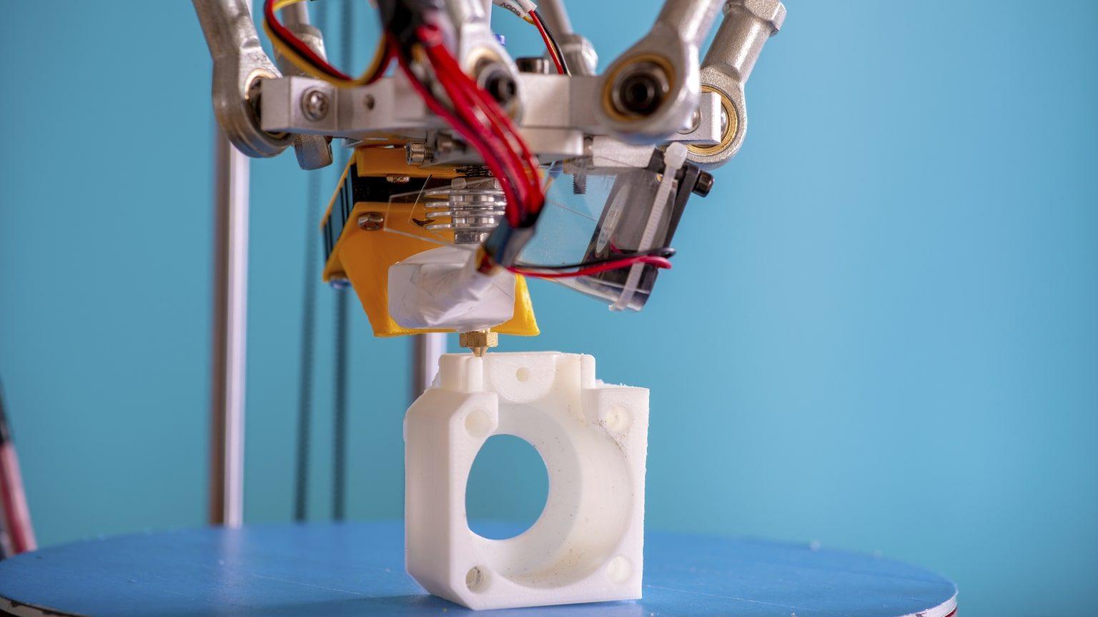 Closeup of 3D printer