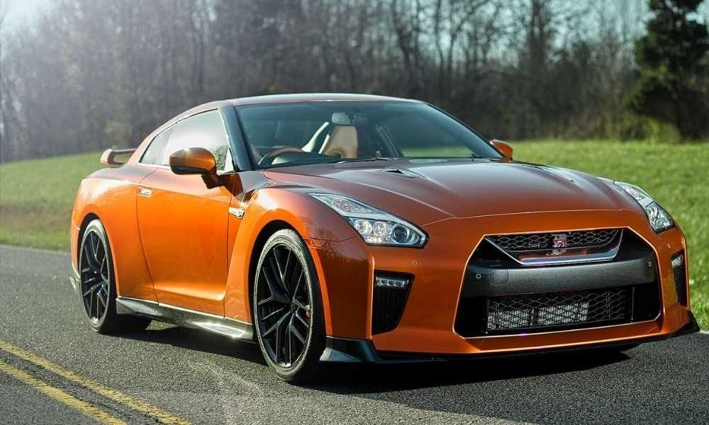 Front view of Nissan GT-R luxury sports car