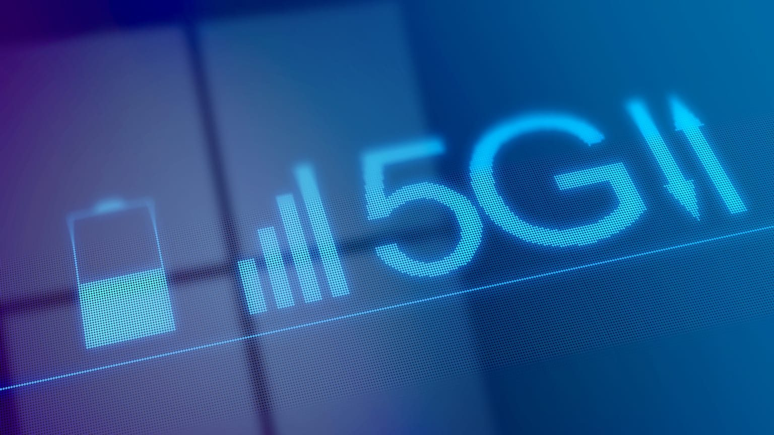 Graphic illustration of a 5G network
