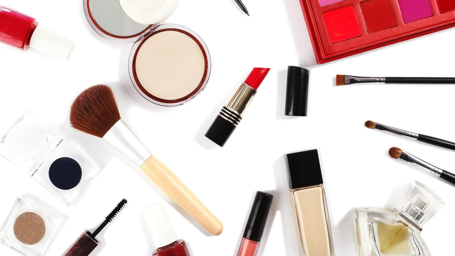 Red And White Makeup Collection