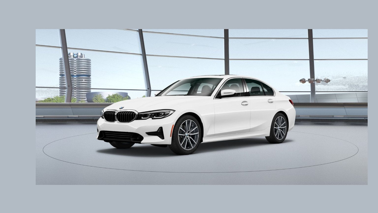White BMW 3 series sedan