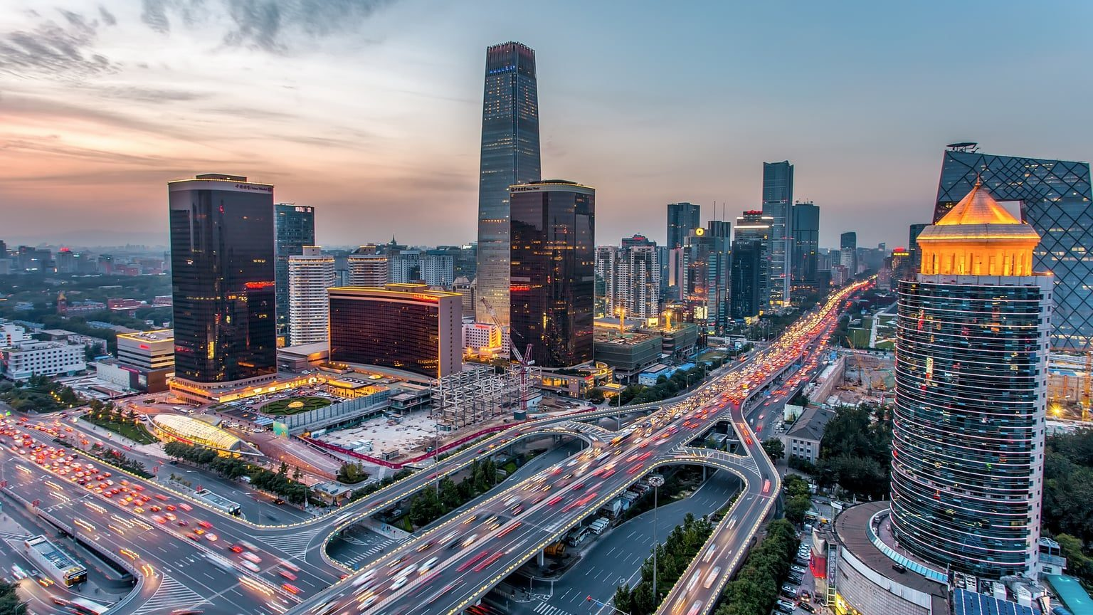 The China World Trade Center in Beijing, China