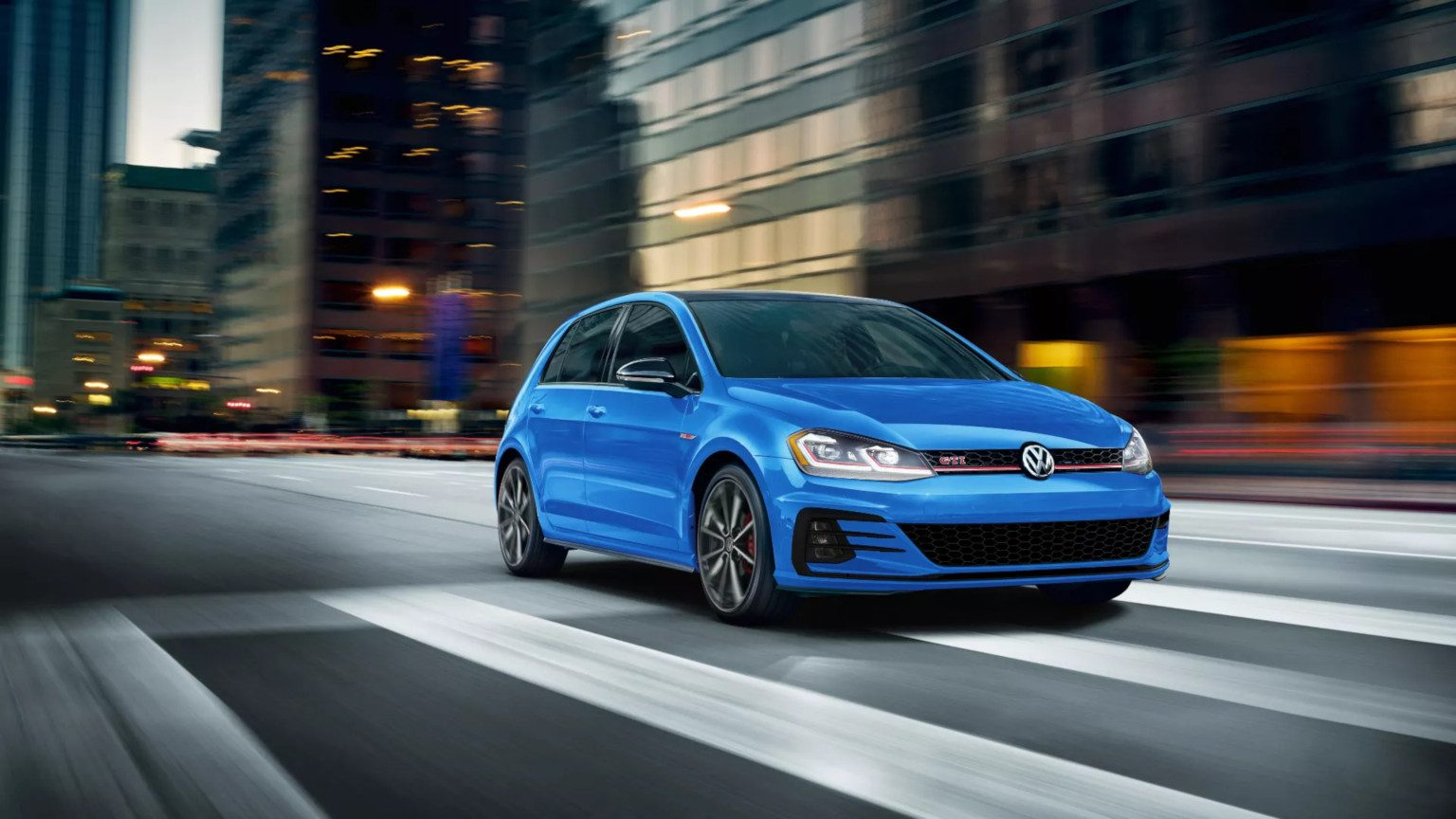 Blue VW Golf GTI