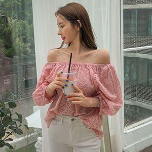 LadyWearingSweetofftheshoulderNetColorLaceCutTop_Mydress_300x300