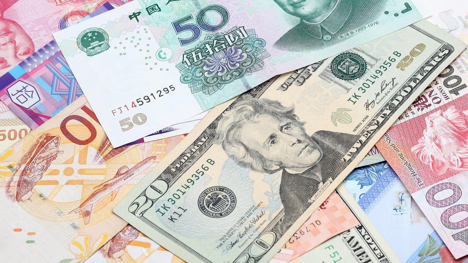 Colourful hong kong currency
