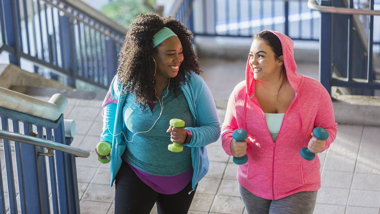 Women doing outdoor exercise
