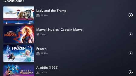 Cómo ver series de televisión y películas de Disney+ sin conexión en tabletas y teléfonos inteligentes