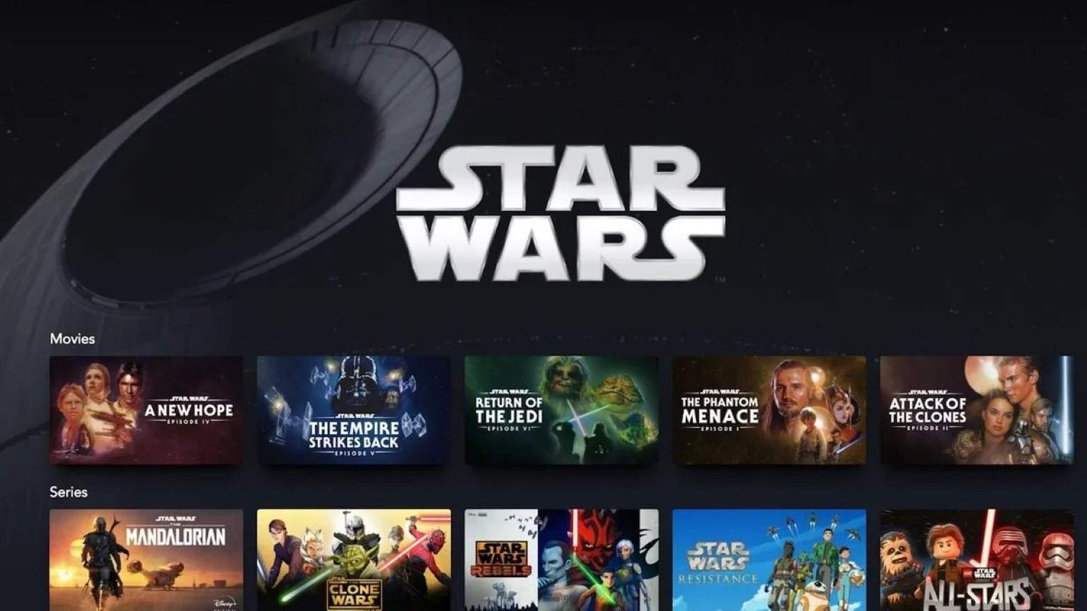 Full list of Star Wars content