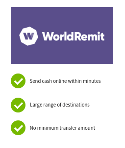 WorldRemit International Money Transfers Offer