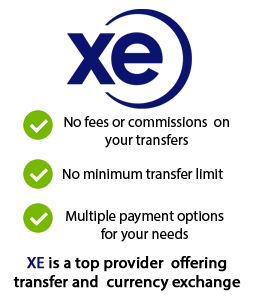 XE Money Transfers Offer