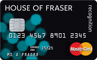 House of Fraser Recognition Mastercard review