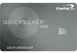 Capital One® QuicksilverOne® Cash Rewards Credit Card logo
