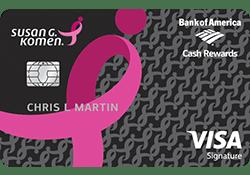 Susan G. Komen® Cash Rewards Visa® logo