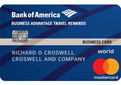Bank of America® Business Advantage Travel Rewards World Mastercard® credit card logo
