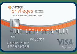 Choice Privileges® Visa Signature® Card logo