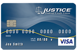 Justice Federal Credit Union (JFCU) VISA Classic Secured Card