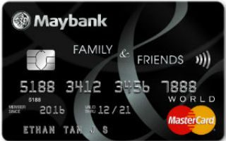Maybank Family & Friends Credit Card