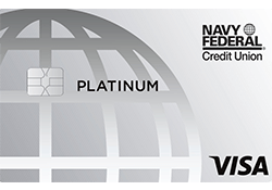 Navy Federal Platinum Credit Card logo