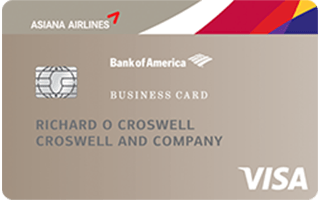Asiana Visa® Business Card by Bank of America review