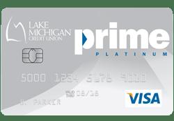 Lake Michigan Credit Union Prime Platinum Visa Credit Card logo