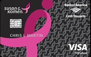 Susan G. Komen® Cash Rewards Visa® review