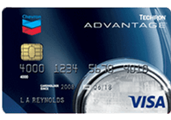 Chevron and/or Texaco Techron Advantage Visa® Card logo