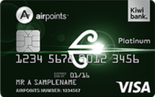Kiwibank Air New Zealand Airpoints Platinum Visa