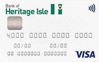 Bank of Heritage Isle Visa credit card