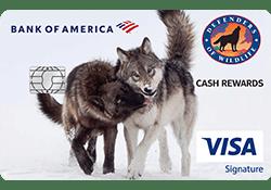 Defenders of Wildlife Cash Rewards Visa Signature® credit card logo