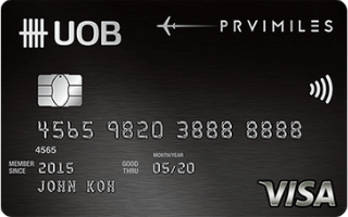 UOB PRVI Miles Visa Card image