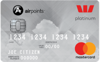 Westpac Airpoints Platinum Mastercard Review