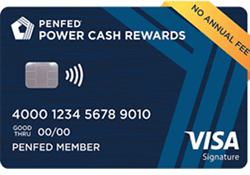 PenFed Power Cash Rewards Visa Signature® Card logo