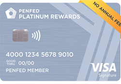 PenFed Platinum Rewards Visa Signature® Card logo