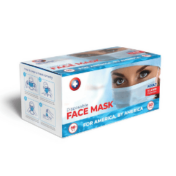 American-Made Disposable Face Masks: 50-Pack from DreamHug