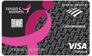Susan G. Komen® Cash Rewards Visa® review