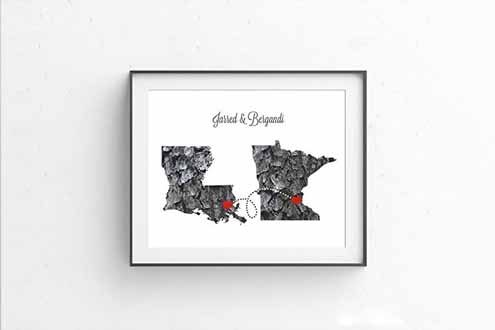 Any Two States Personalized Print