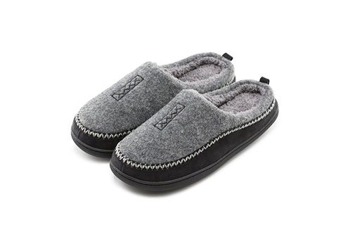 Men's Cozy Wool Memory Foam Slippers