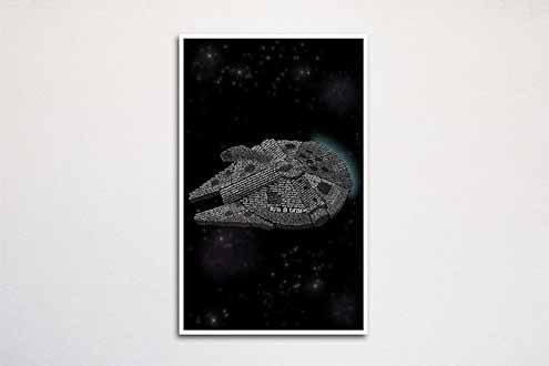Star Wars Millennium Falcon Word Art