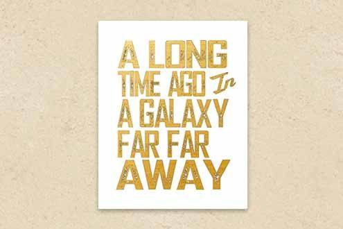 Gold Foil Star Wars Art Print