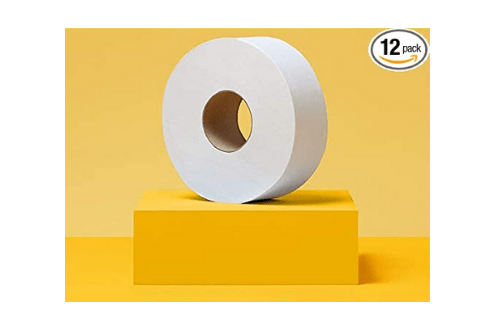 AmazonCommercial Jumbo Roll Toilet Paper, 12 Rolls