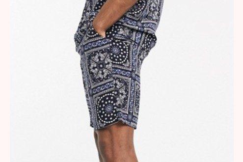 Brave Soul two-piece drawstring shorts in bandana print