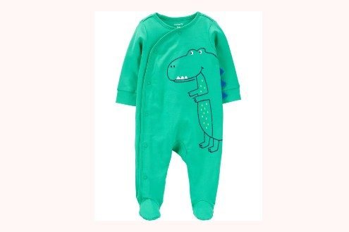 Dinosaur Snap-Up Cotton Sleep & Play