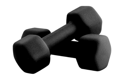 Portzon set of 2 neoprene dumbbell hand weights