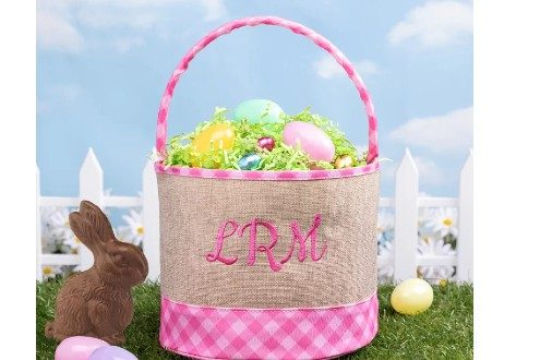 Monogram Check Fabric Bucket