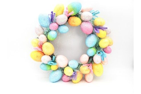 Dia Easter Bright Glittered Egg Wreath