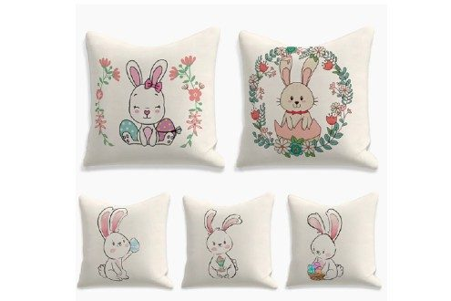 Happy easter cushion cover