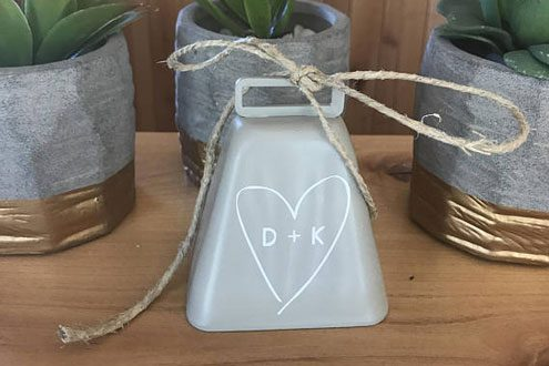 Personalized wedding bell