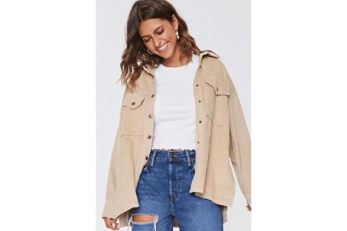Corduroy Snap-Button Jacket