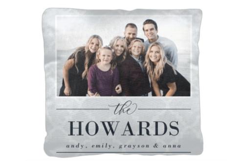 Family name pattern pillow